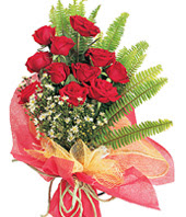 11 adet kaliteli görsel kirmizi gül  İsparta çiçek satışı