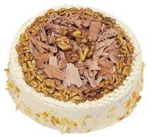 Karamelli 4 ile 6 kisilik yas pasta  İsparta çiçek yolla