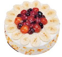 Meyvali 4 ile 6 kisilik yas pasta leziz  İsparta ucuz çiçek gönder