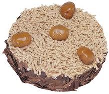 Kestahaneli yas pasta 4 ile 6 kisilik pasta  İsparta çiçek siparişi sitesi