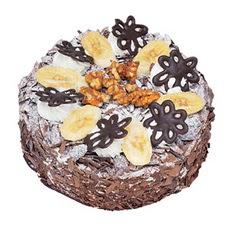 Muzlu çikolatali yas pasta 4 ile 6 kisilik   İsparta uluslararası çiçek gönderme