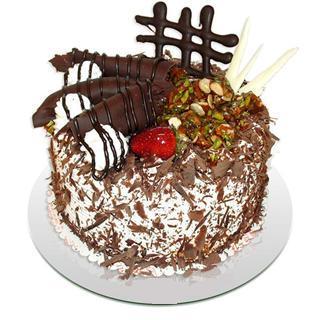 4 ile 6 kisilik çikolatali yas pasta  İsparta kaliteli taze ve ucuz çiçekler