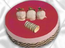 pasta siparisi 4 ile 6 kisilik yas pasta çilekli yaspasta  İsparta çiçek servisi , çiçekçi adresleri