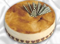 taze pasta 4 ile 6 kisilik yas pasta karamelli yaspasta  İsparta çiçekçiler