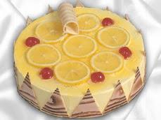 taze pastaci 4 ile 6 kisilik yas pasta limonlu yaspasta  İsparta online çiçek gönderme sipariş