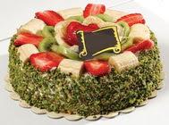 pasta gönder  4 ile 6 kisilik karisik meyvali yas pasta  İsparta internetten çiçek siparişi