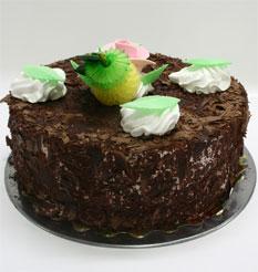 4 ile 6 kisilik yas pasta çikolatali leziz pastane ürünü  İsparta cicekciler , cicek siparisi
