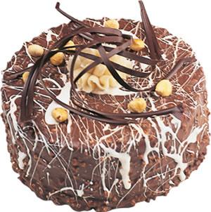 pasta satisi 4 ile 6 kisilik çikolatali yas pasta  İsparta İnternetten çiçek siparişi