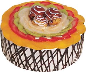 pasta siparisi 4 ile 6 kisilik meyvali yas pasta  İsparta çiçek satışı