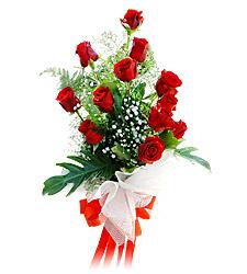 11 adet kirmizi güllerden görsel sölen buket  İsparta çiçek siparişi vermek