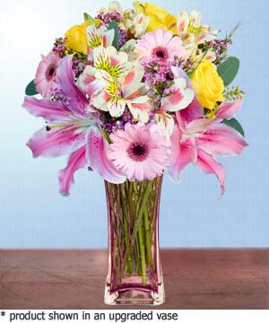 Anneme hediye karisik cam mevsim demeti  İsparta internetten çiçek siparişi