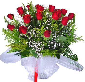 11 adet gösterisli kirmizi gül buketi  İsparta internetten çiçek satışı