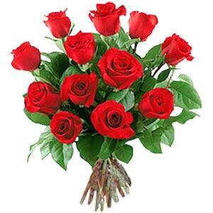 11 adet bakara kirmizi gül buketi  İsparta güvenli kaliteli hızlı çiçek
