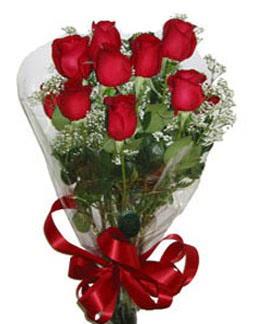 Çiçek sade gül buketi 7 güllü buket  İsparta online çiçek gönderme sipariş