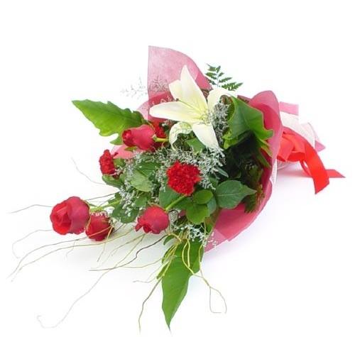 Mevsim çiçeklerinden karisik buket  İsparta cicek , cicekci
