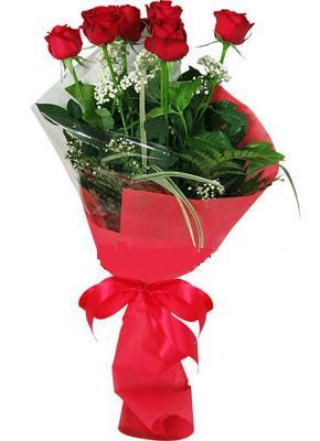 7 adet kirmizi gül buketi  İsparta çiçek yolla , çiçek gönder , çiçekçi