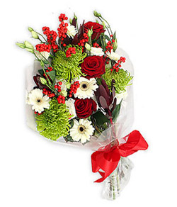 Karisik mevsim buketi çiçek tanzimi  İsparta internetten çiçek siparişi