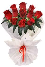 11 adet gül buketi  İsparta internetten çiçek siparişi  kirmizi gül