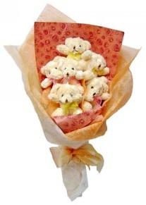 12 adet ayiciktan buket  İsparta çiçek siparişi sitesi