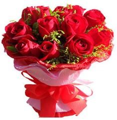 9 adet kirmizi güllerden kipkirmizi buket  İsparta çiçekçiler