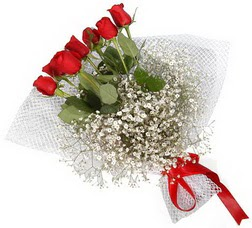 7 adet kirmizimi kirmizi gül buketi  İsparta hediye sevgilime hediye çiçek