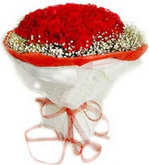 İsparta çiçekçiler  41 adet kirmizi gül buketi