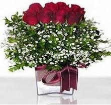 İsparta internetten çiçek satışı  mika yada cam vazo içerisinde 7 adet gül