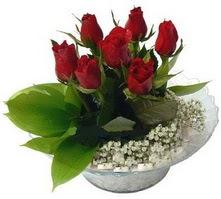 İsparta internetten çiçek satışı  cam yada mika içerisinde 5 adet kirmizi gül