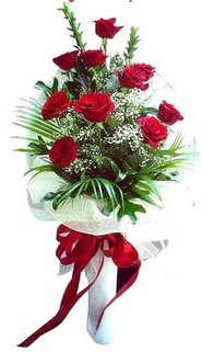 İsparta ucuz çiçek gönder  10 adet kirmizi gül buketi demeti