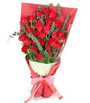 İsparta çiçek gönderme  37 adet kırmızı güllerden buket