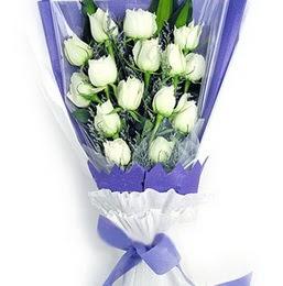 İsparta çiçekçi mağazası  11 adet beyaz gül buket modeli