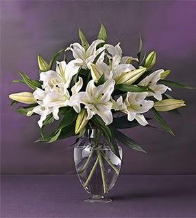 İsparta İnternetten çiçek siparişi  4 dal cazablanca vazo çiçeği