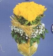 İsparta anneler günü çiçek yolla  Cam vazoda 9 Sari gül