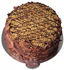 6 ile 9 kişilik Çikolatalı Krokanlı yaş pasta