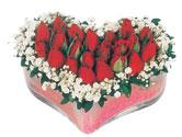 İsparta çiçekçi telefonları  mika kalpte kirmizi güller 9