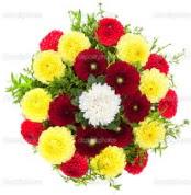 İsparta çiçekçi mağazası  13 adet mevsim çiçeğinden görsel buket