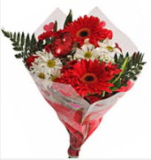 Mevsim çiçeklerinden görsel buket  İsparta çiçekçiler