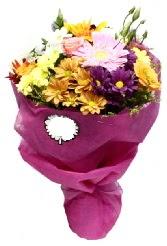 1 demet karışık görsel buket  İsparta anneler günü çiçek yolla
