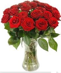 İsparta çiçek mağazası , çiçekçi adresleri  Vazoda 15 adet kırmızı gül tanzimi