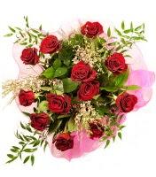 12 adet kırmızı gül buketi  İsparta 14 şubat sevgililer günü çiçek