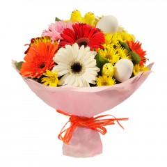 Karışık mevsim buketi Mevsimsel çiçek  İsparta internetten çiçek siparişi