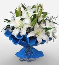 4 dal kazablanka çiçeğinden buket  İsparta cicek , cicekci