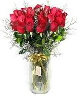 27 adet vazo içerisinde kırmızı gül  İsparta İnternetten çiçek siparişi