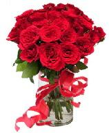 21 adet vazo içerisinde kırmızı gül  İsparta çiçek satışı