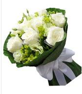 9 adet beyaz gül buketi  İsparta çiçek siparişi sitesi