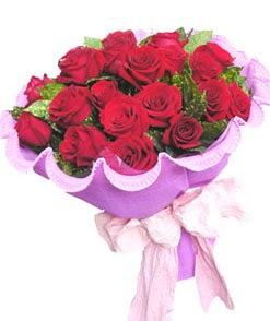 12 adet kırmızı gülden görsel buket  İsparta çiçekçi mağazası