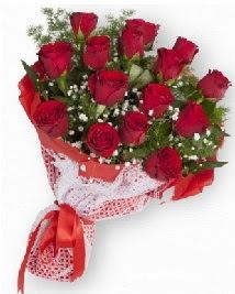 11 kırmızı gülden buket  İsparta güvenli kaliteli hızlı çiçek