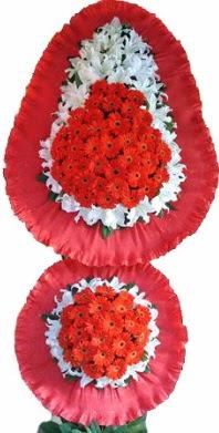 İsparta online çiçek gönderme sipariş  Çift katlı kaliteli düğün açılış sepeti