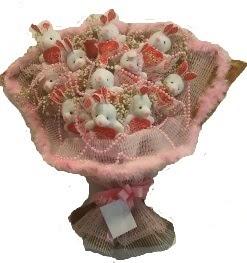 12 adet tavşan buketi  İsparta çiçek mağazası , çiçekçi adresleri