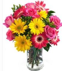 Vazoda Karışık mevsim çiçeği  İsparta çiçekçi mağazası